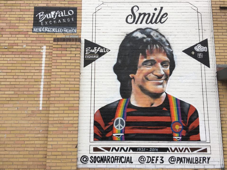 Robin Williams Smile mural
