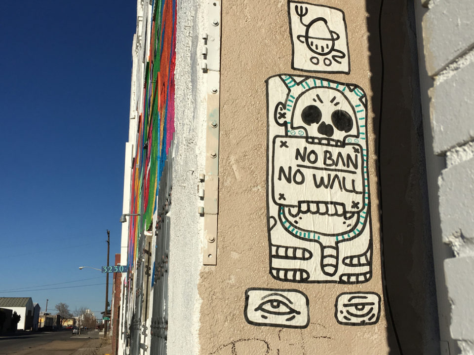 No Ban No Wall piece