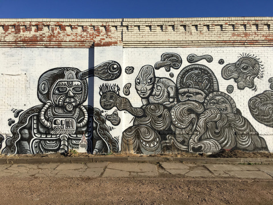 Five Points intricate mural