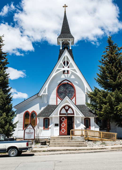 CITY OF LEADVILLE COLORADO AND SURROUNDINGS MINERS CHURCH HOUSES ARCHITECTURE