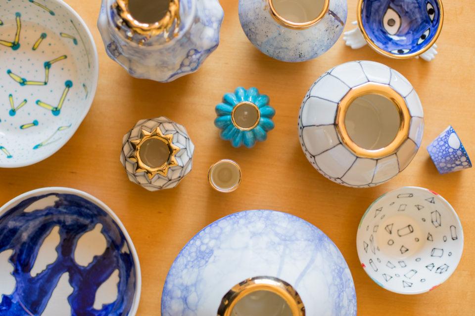 Lia Pileggi ceramics above