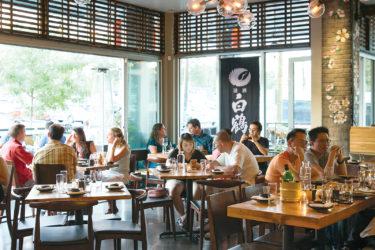 Mizu Izakaya's open-air dining room / Photo by Jennifer Olson