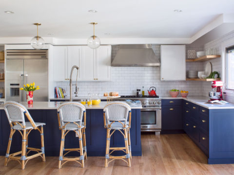 Pleasant A Perfect Blue And White Denver Kitchen Remodel 5280 Inzonedesignstudio Interior Chair Design Inzonedesignstudiocom