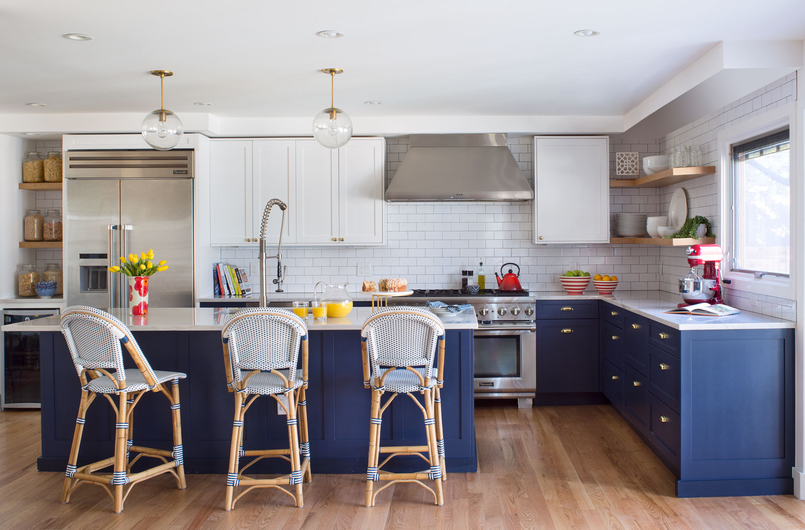 A Perfect Blue And White Denver Kitchen Remodel 5280