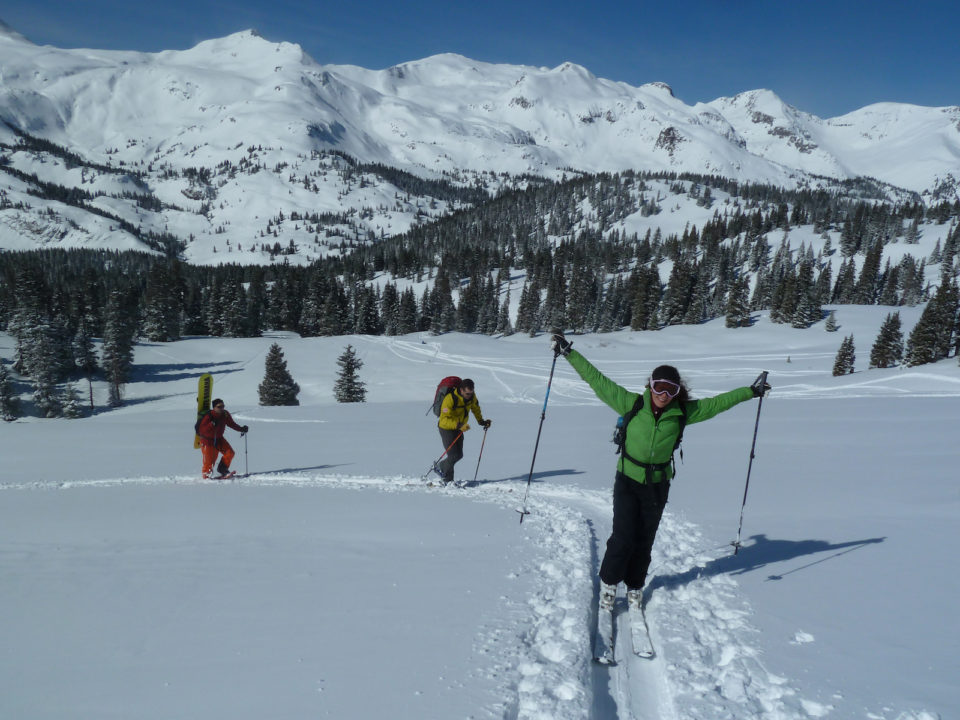 backcountry skiing Ouray
