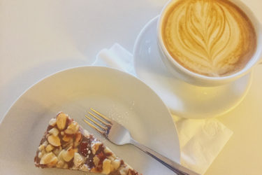 Spur Coffee Latte and Cake