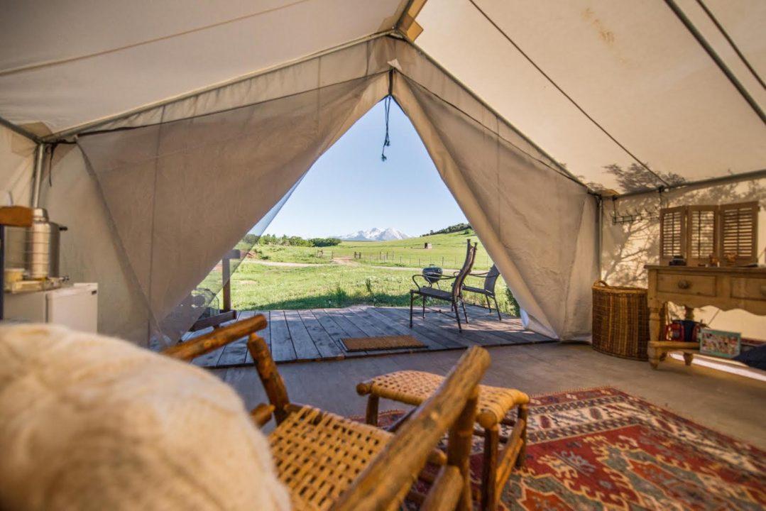Cedar Ridge Ranch, safari tent, glamping