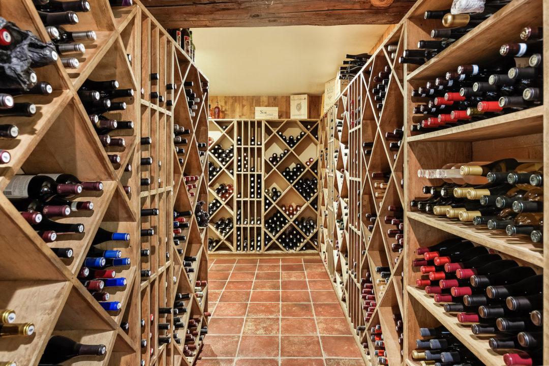 smith fork ranch wine cellar photo courtesy of Coldwell Banker Mason Morse