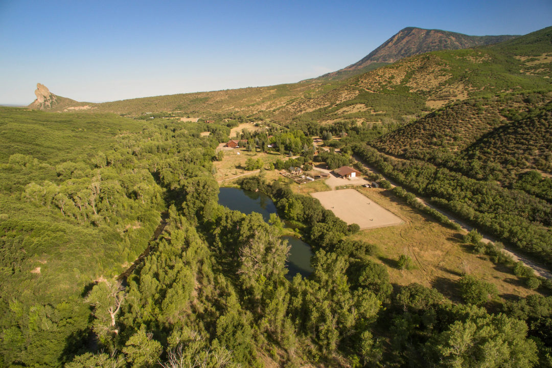 smith fork ranch aerial view Photo courtesy of Coldwell Banker Mason Morse