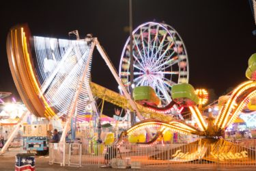 The State Fair carnival by night