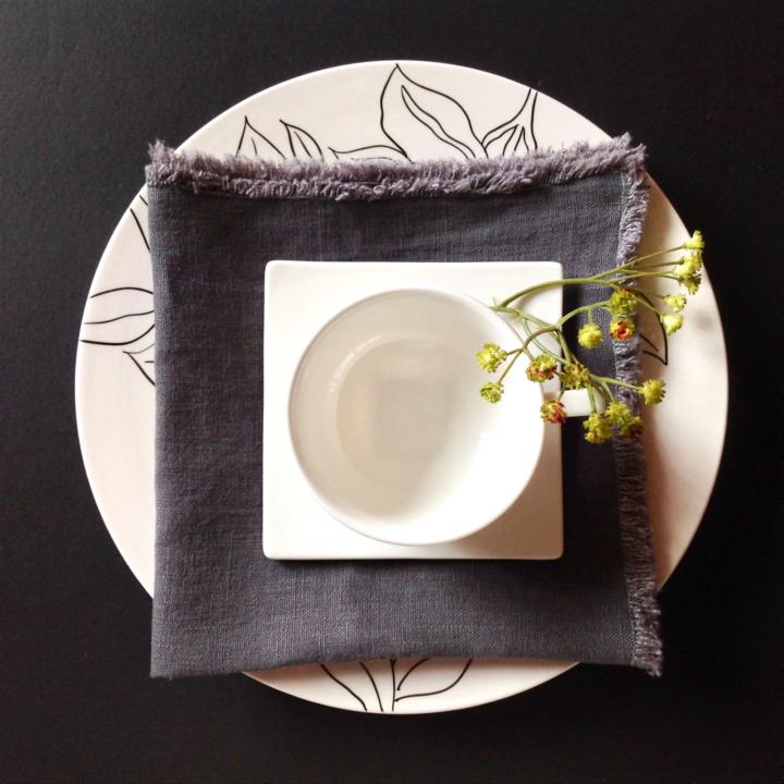 urban flax fringed linen napkin Photo courtesy of Urban Flax