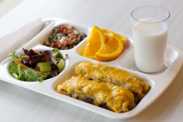Santo's school lunch