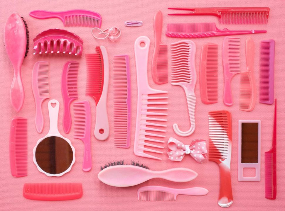 Tom Kiefer Pink Combs and Brushes