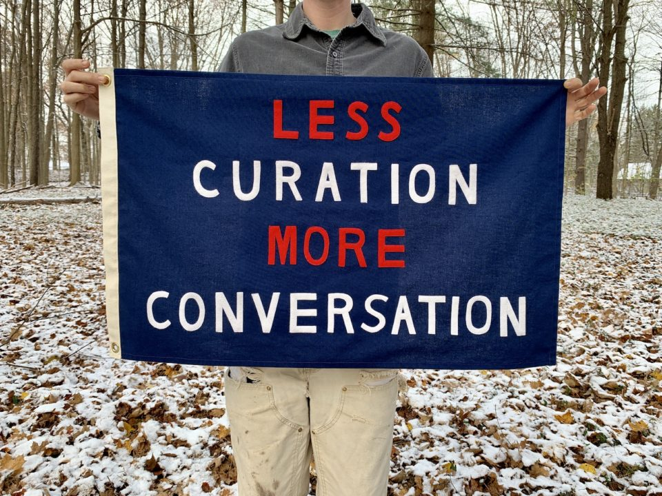 Less Curation More Conversation by Jackie Barry