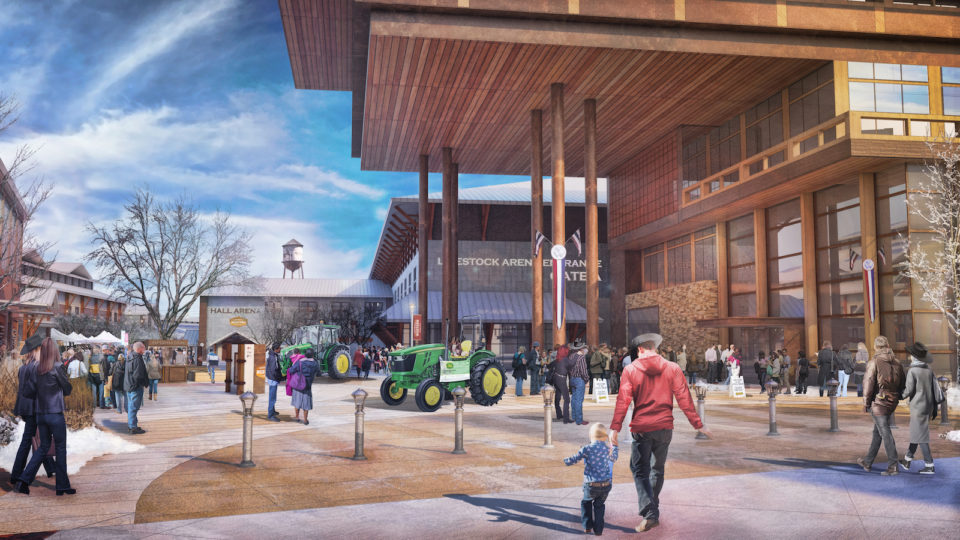 National Western Stock Show Legacy Building Entrance Rendering