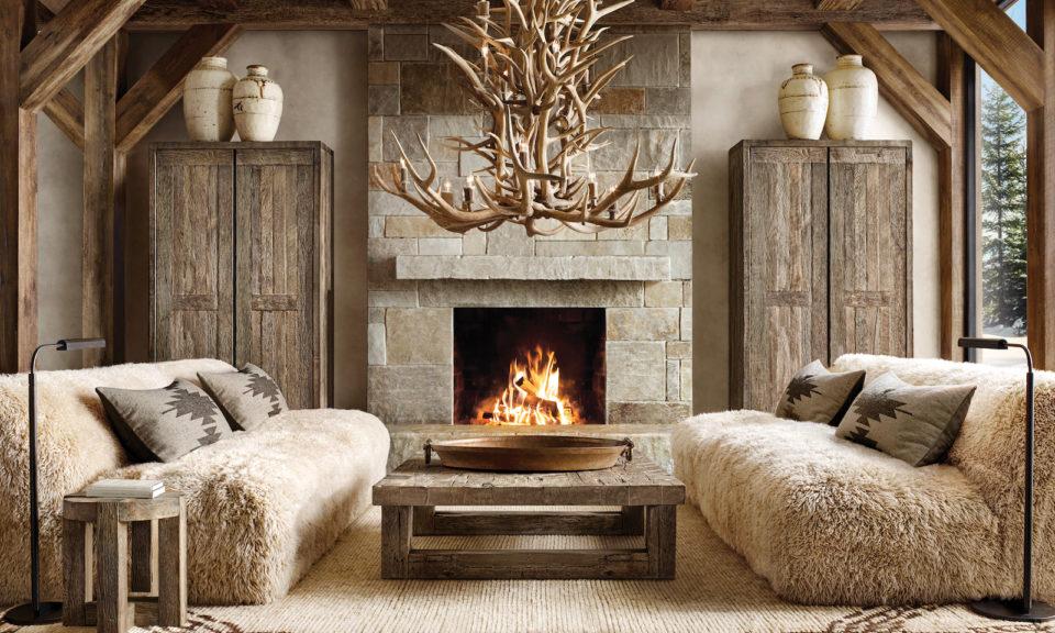 Rh Ski House Introduces Furnishings, Where Is Restoration Hardware Furniture Made