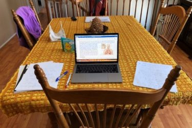 Dr. Mercedes Rincon's dining room home office