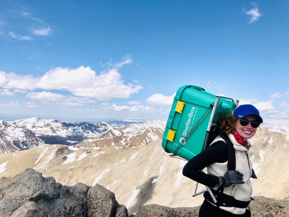 ShelterBox Britt Woodrum Fourteeners Project Mt Shavano