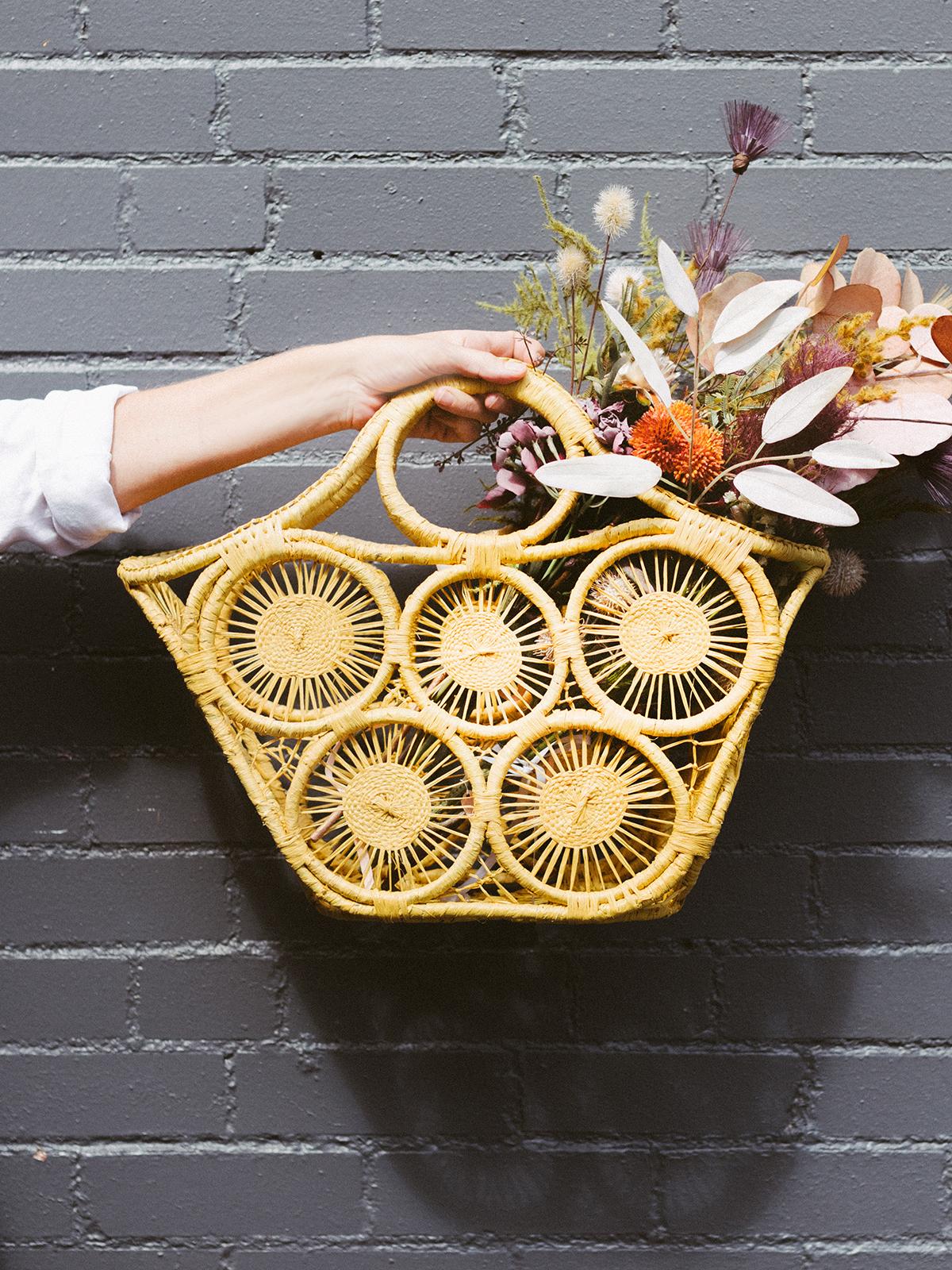 Rosy Rings Yellow Bag