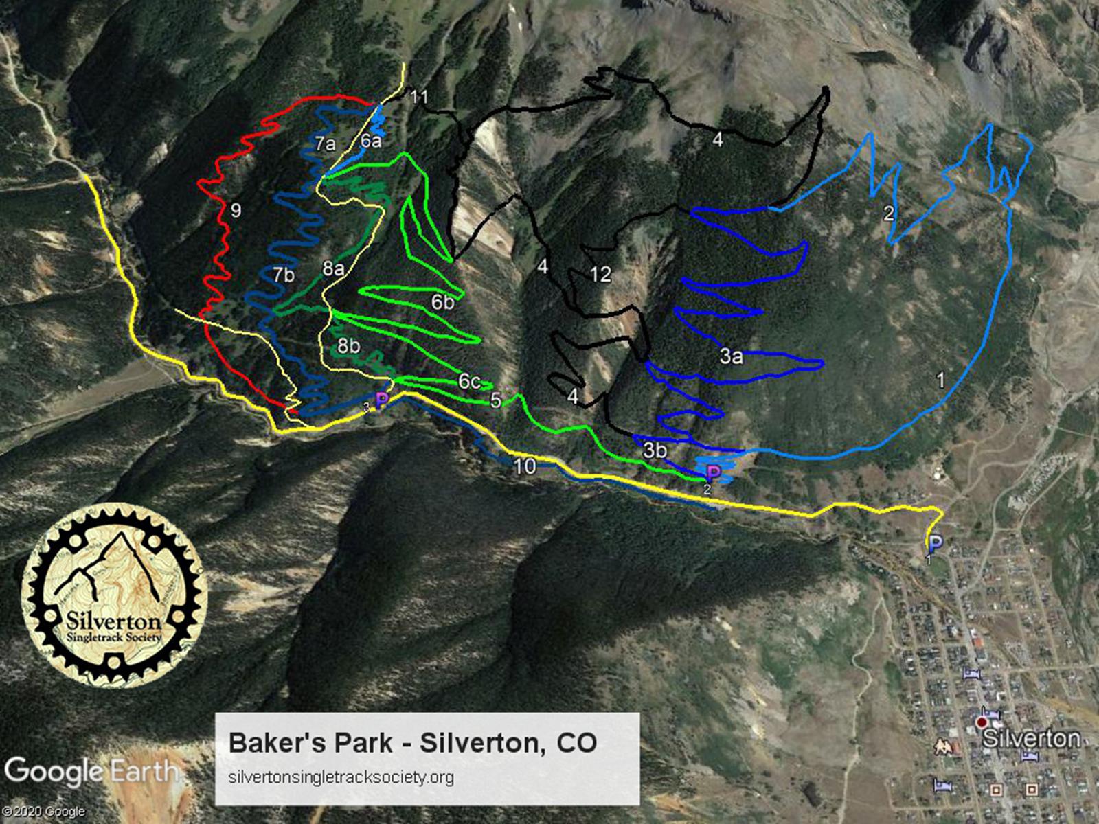 Silverton Trail Map