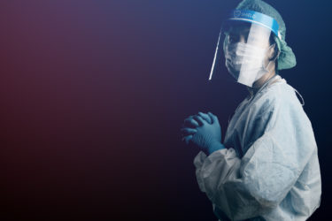 Doctor in PPE, COVID-19