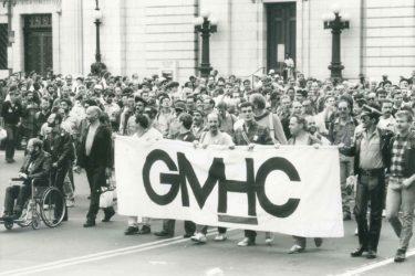 Activists protest the AIDS epidemic