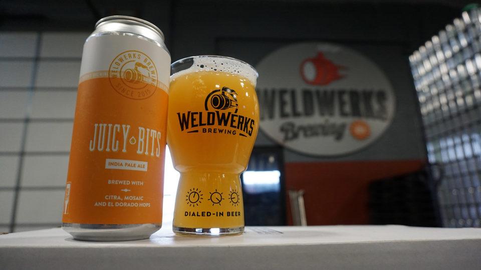 Juicy Bits beer from WeldWerks