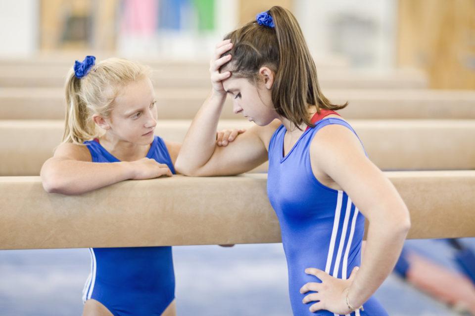 stressed gymnast