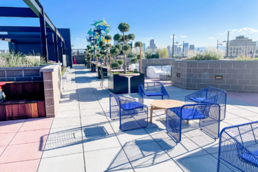 Rooftop patio at Red Barber