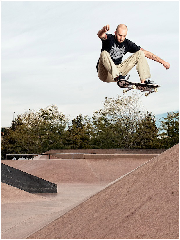 Skateboarder Chris Smolik