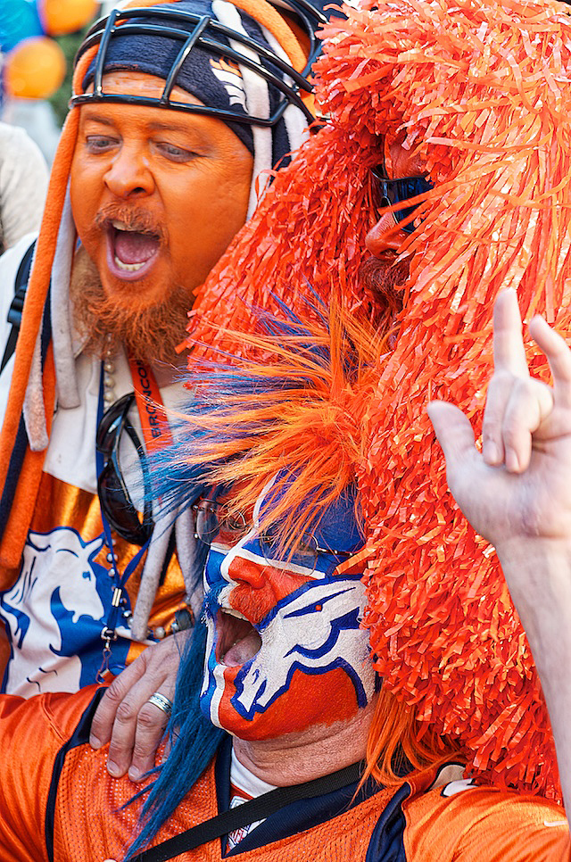 Denver Broncos fans at pep rally