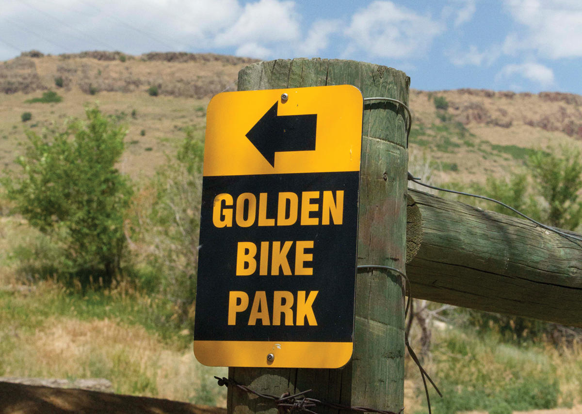 Golden bike park