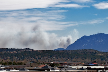 Fort Carson wildfire April 2008