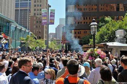 Denver crowd awaits Joe Biden's arrival