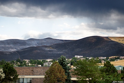 Green Mountain wildfire, August 4, 2008